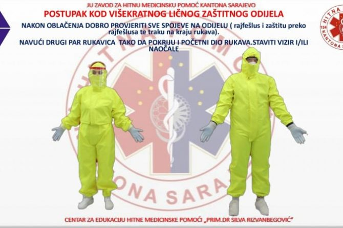 ZASTITA ZDRAVSTVENIH RADNIKA OD INFEKCIJE IZAZVANE VIRUSOM SARS-COV-2(OBOLJENJA COVID 19) PREMA SMJERNICAMA ZAVODA ZA JAVNO ZDRAVSTVO KS
