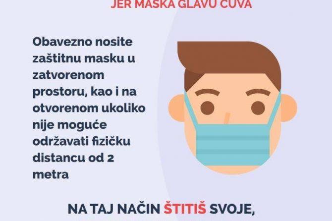 Krizni štab Ministarstva zdravstva KS poziva građane na obavezno i striktno pridržavanje preporučenih epidemiloških mjera