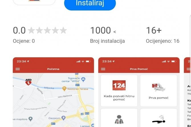Aplikacija Hitne pomoći Sarajevo od danas je dostupna i za korisnike Huawei uredjaja