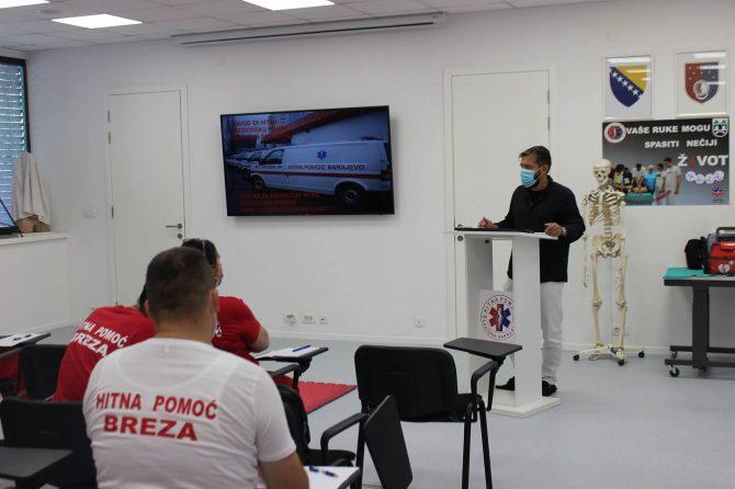Polaznici BLS kursa bili su kolege iz Službe hitne medicinske pomoći JU Dom zdravlja Breza.